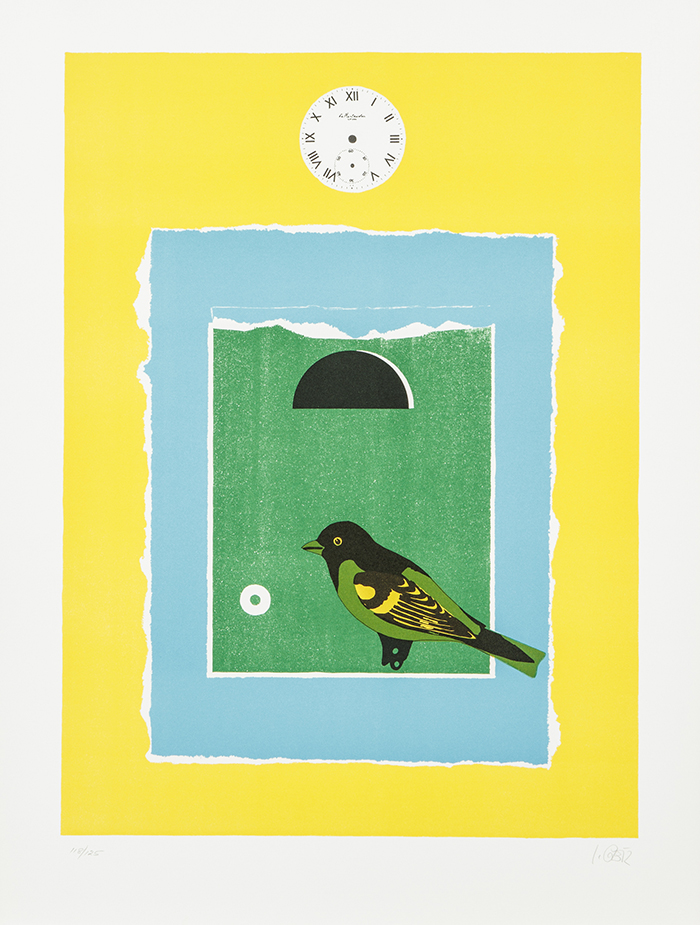 The Blue Door State 1 (with Green U0026 Green Bird) By Ilse Getz